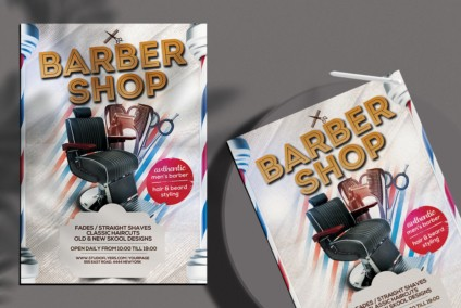 Barbershop Ad Free PSD Flyer Template