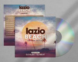 Beach Vibe Free CD Artwork PSD Template