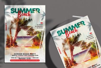 Beach Vibe PSD Free Flyer Template vol3