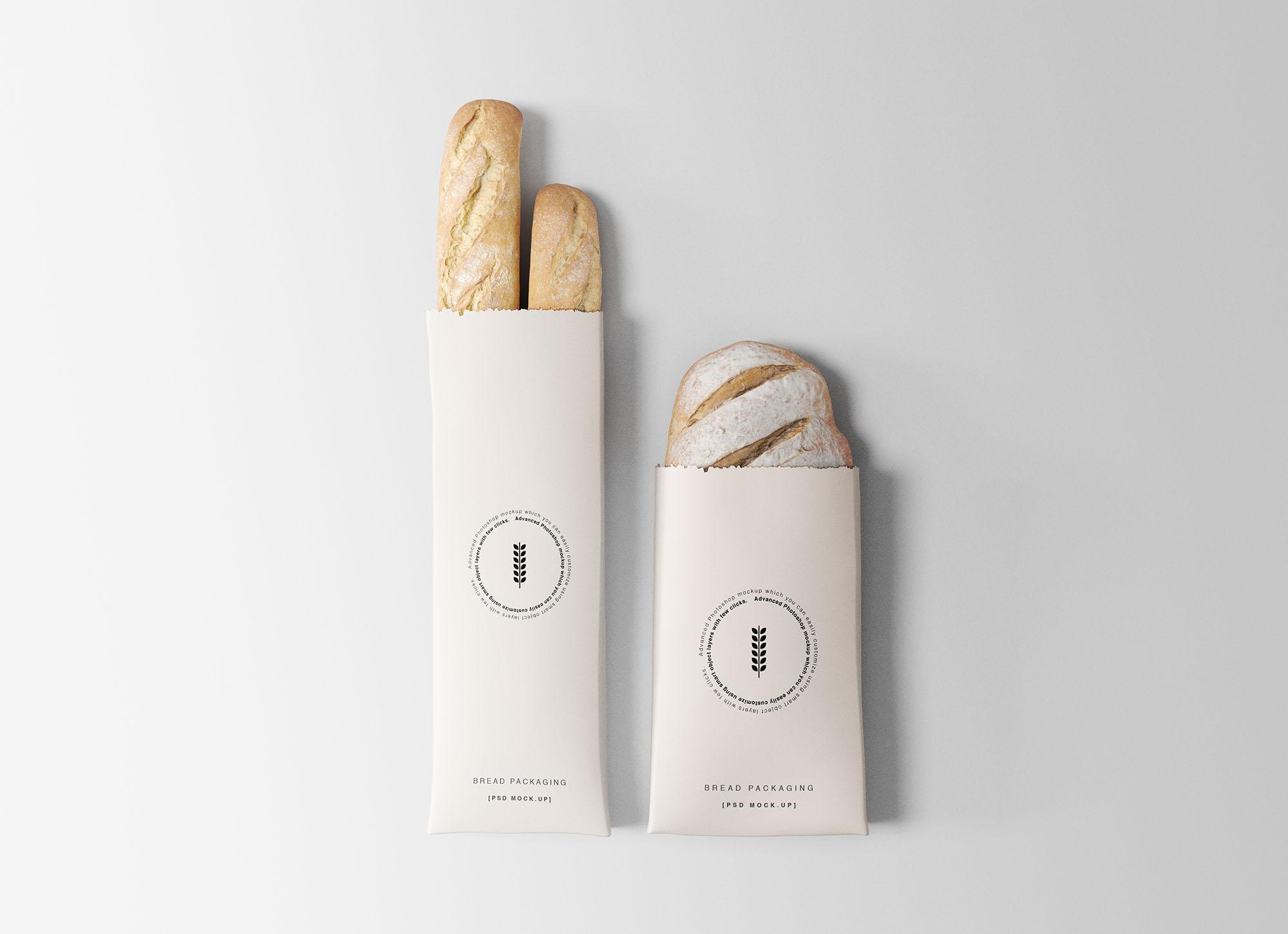 Bread Packaging Free Mockups