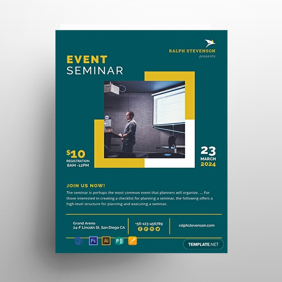Business Seminar Free PSD Flyer Template