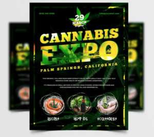 Cannabis Expo – PSD Free Flyer Template