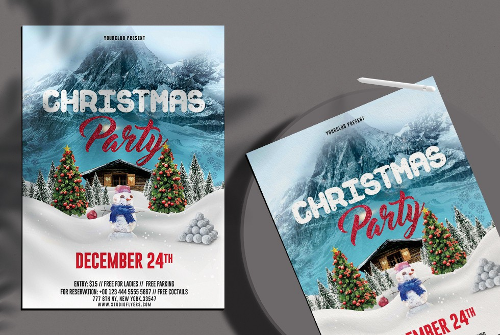Christmas Event PSD Free Flyer Template