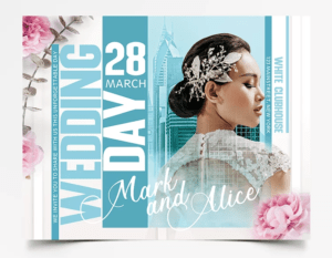 Clean Wedding Day Free PSD Flyer Template