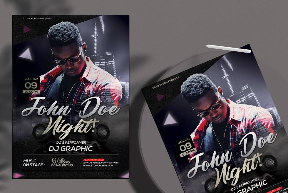 Club Night Party – Free PSD Flyers Template