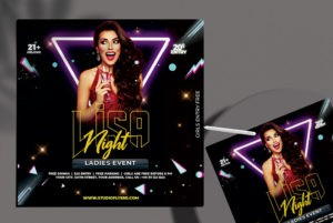 Club & Party – Free PSD Flyer Template