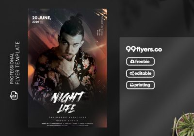 Club Vibe Party PSD Free Flyer Template