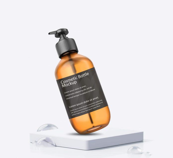 Cosmetic Spray Bottle Free Mockup