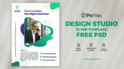 Creative Design Studio PSD Free Flyer Template