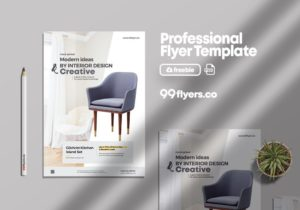 Creative Furniture Shop – Free PSD Flyer Template