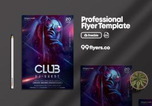 DJ Night Performance PSD Free Flyer Template