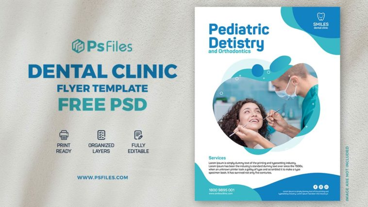 Dental Clinic PSD Free Flyer Template