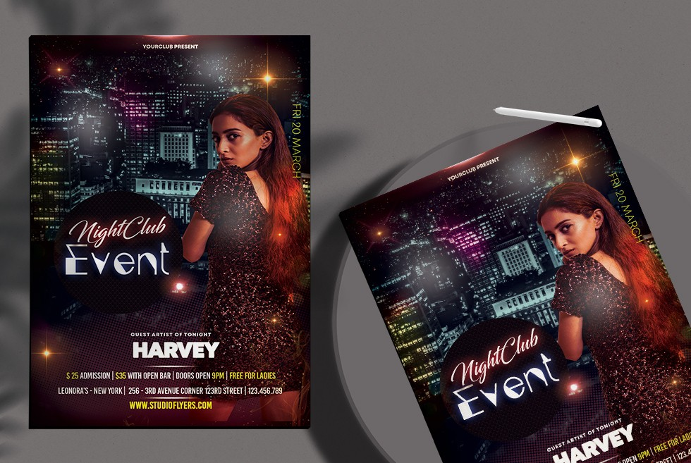 Event Club Party Free PSD Flyer Template