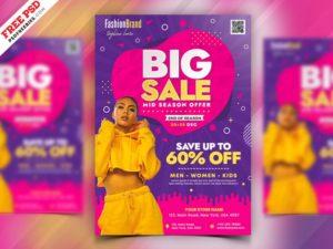 Fashion Big Sale Free PSD Flyer Template