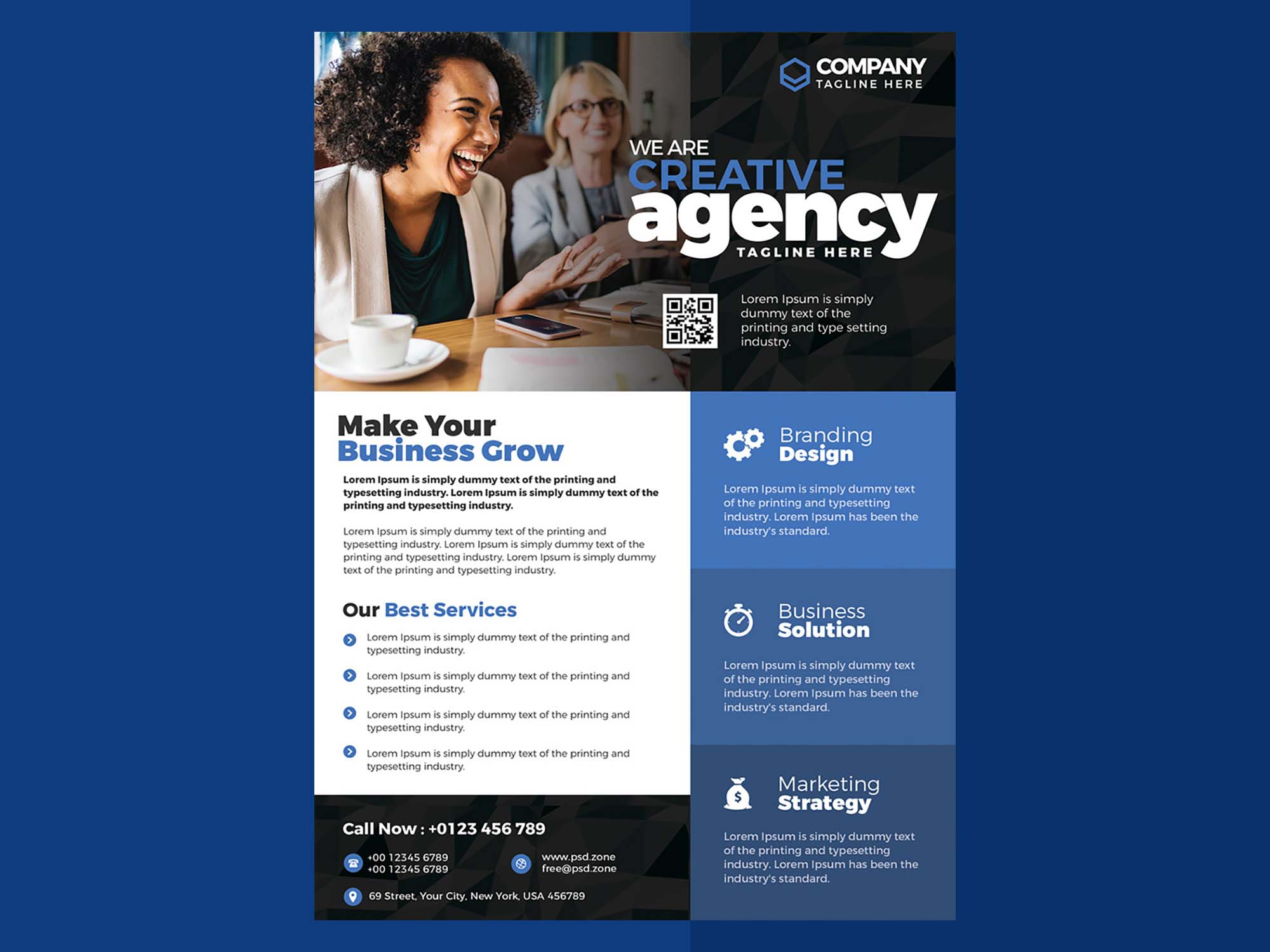 Free Business Advertisement PSD Flyer Template