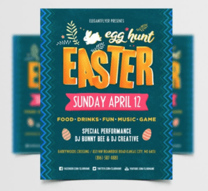 Free Easter Egg Hunt PSD Flyer Template