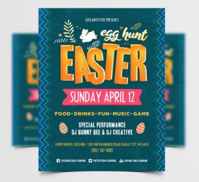 Free Easter Egg Hunt PSD Flyer Template
