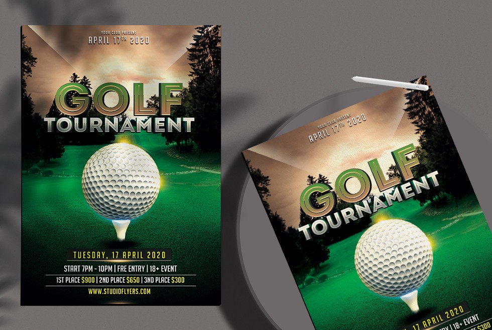 Free Golf Tournament PSD Flyer Template