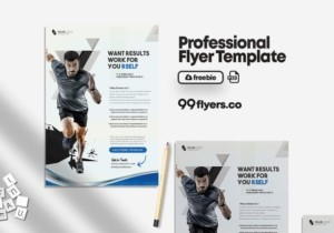 Free Gym Fitness PSD Flyer Template