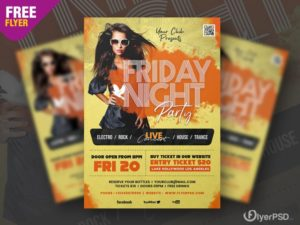 Friday Night Vibe PSD Free Flyer Template