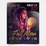 Full Moon - DJ PSD Free Flyer Template