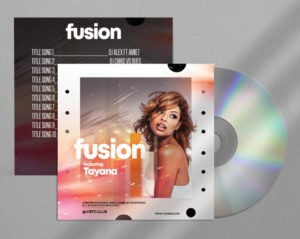 Fusion Music Free Mixtape PSD CD Artwork