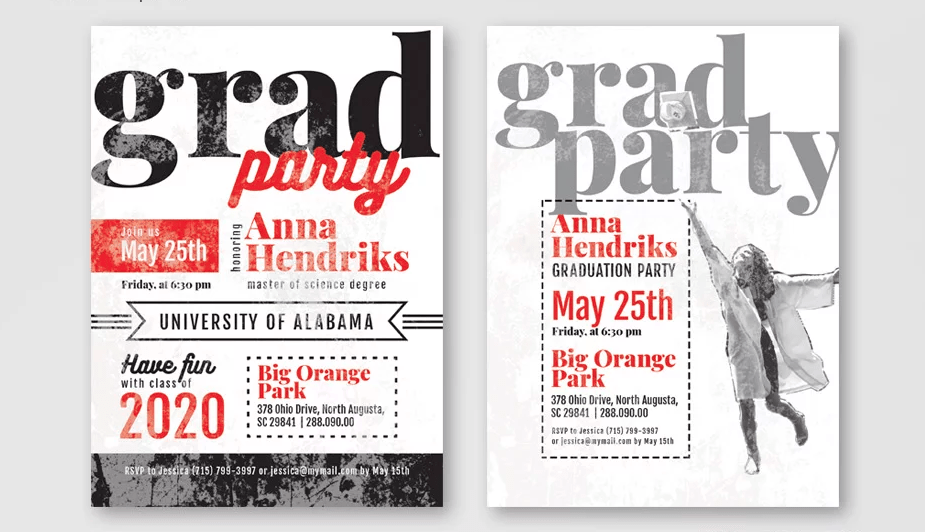 Graduation Invitation Freebie PSD Template
