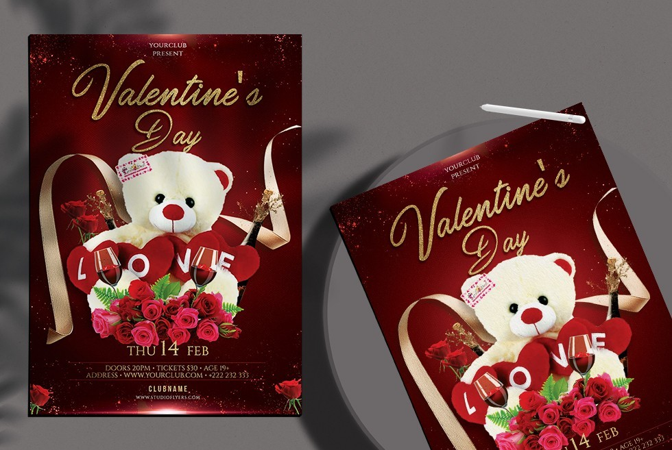 Happy Valentine's Day – Free PSD Flyer Template