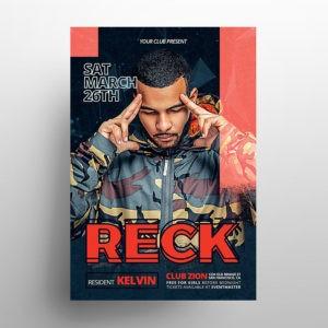 Hip Hop Artist PSD Free Flyer Template