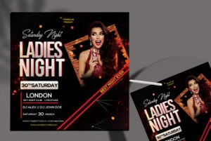 Ladies Club Party Free PSD Flyer Template