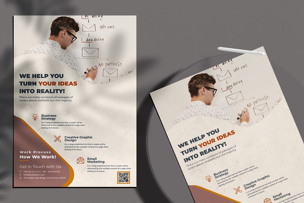 Marketing & Agency Free PSD Flyer Template Vol3