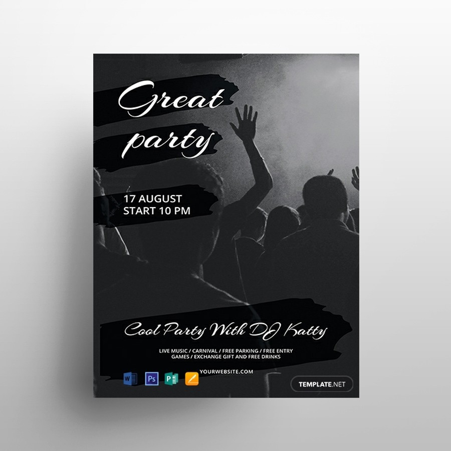 Minimal Concert PSD Free Flyer Template