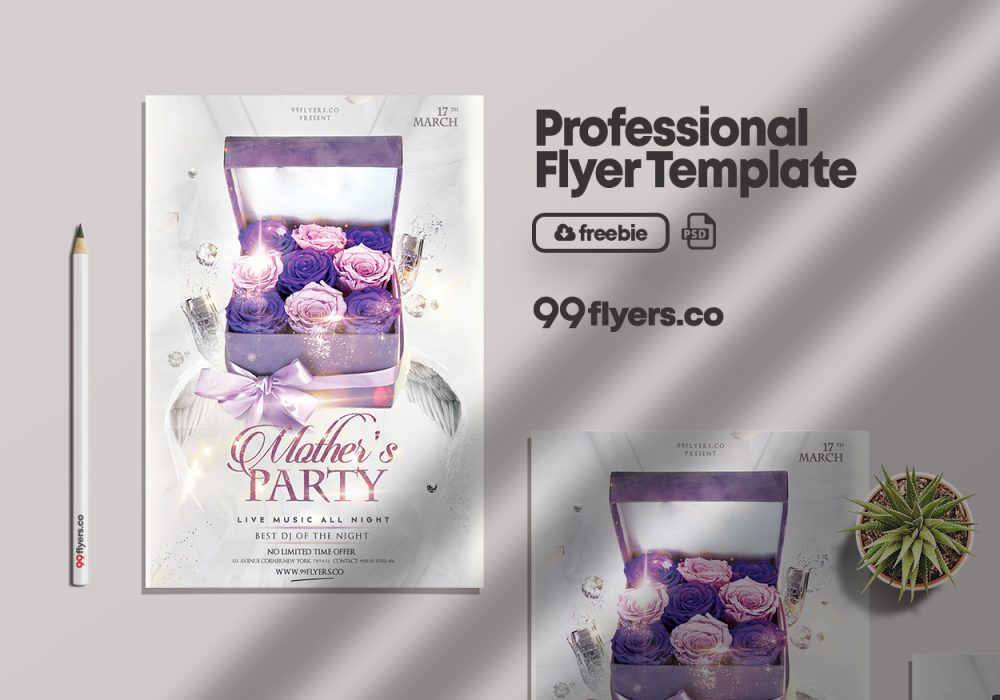 Mother's Day - Clean Free PSD Flyer Template