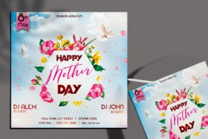 Mother's Day Event Freebie PSD Flyer Template