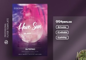 Music Club Event Flyer – Free PSD Template