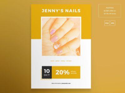 Nail Salon Free PSD Flyer Template