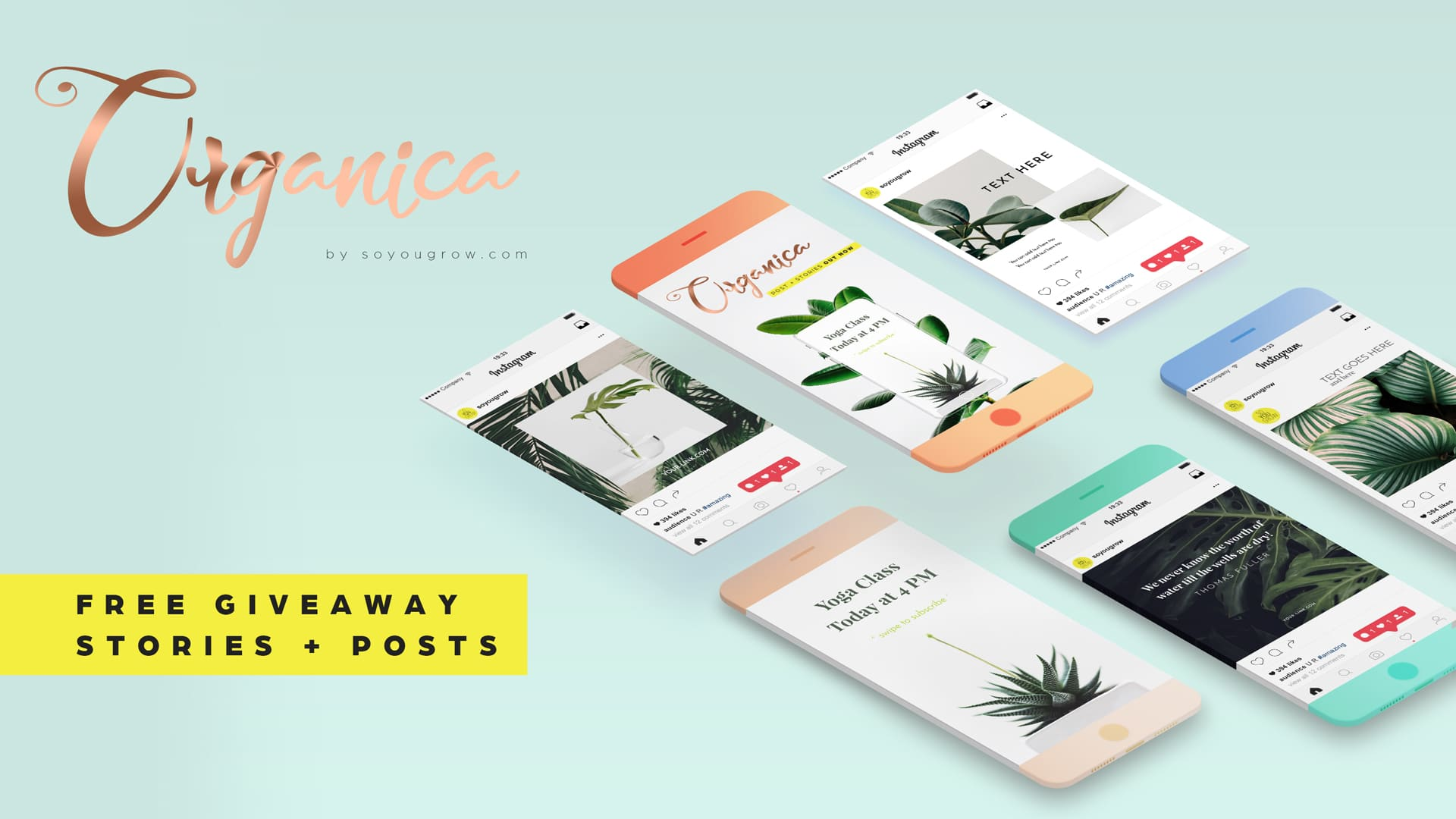 Organica Instagram Stories Free PSD Templates Pack