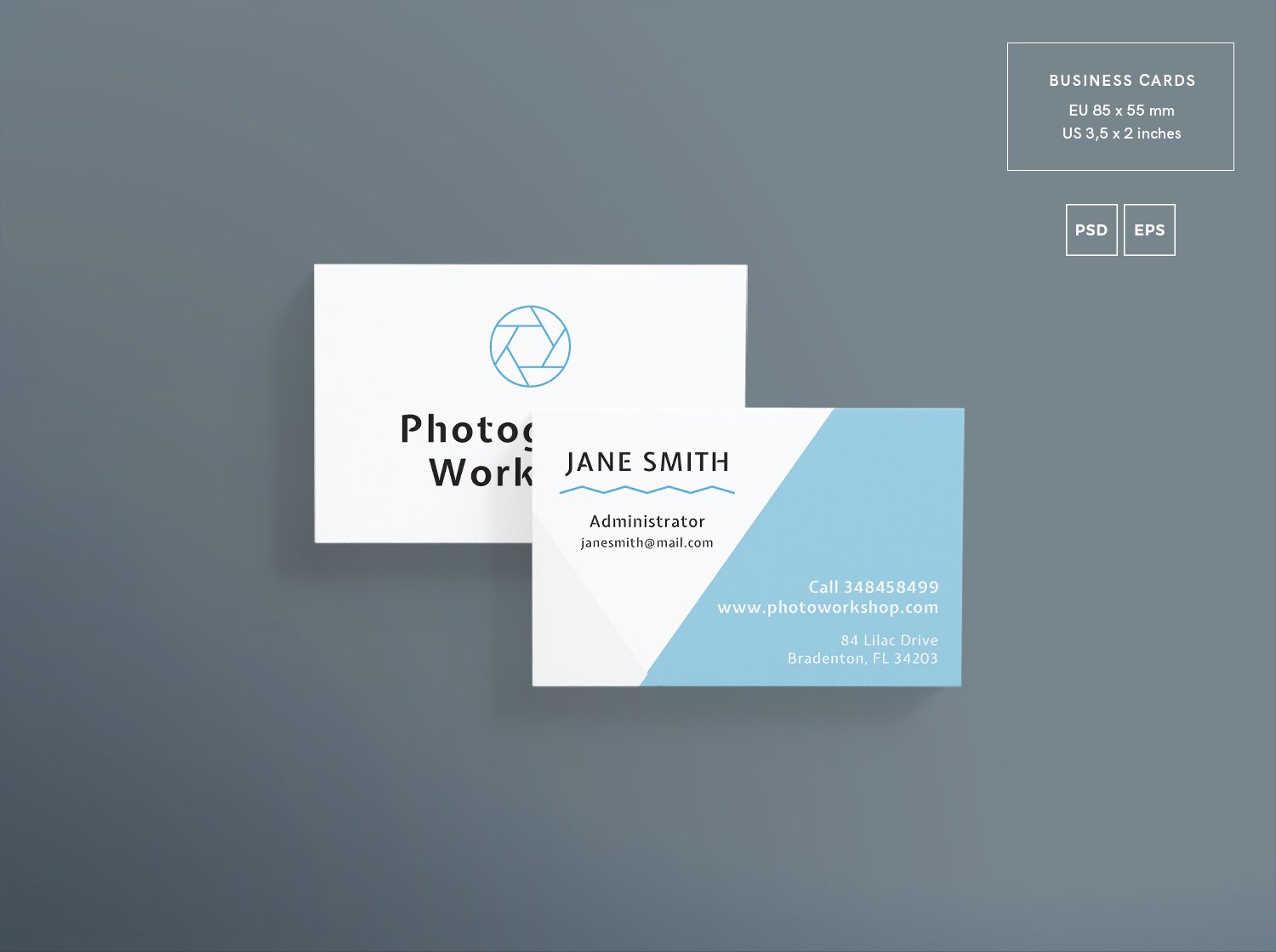 Photography Workshop Business Card Free PSD Template
