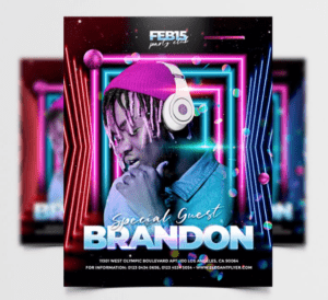 Special DJ Performance Free PSD Flyer Template Vol4