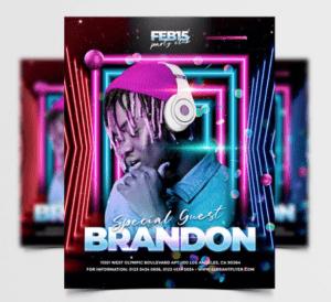 Special DJ Performance Free PSD Flyer Template Vol4