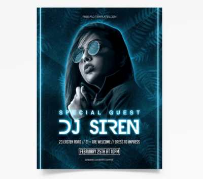Special Guest PSD Free Flyer Template