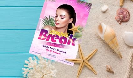 Spring Break Free PSD Flyer Template
