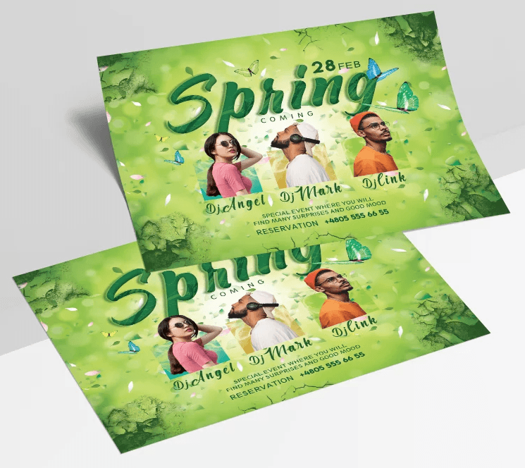 Spring Day - Free Event PSD Flyer Template