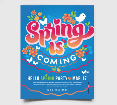Spring is Coming Free PSD Flyer Template