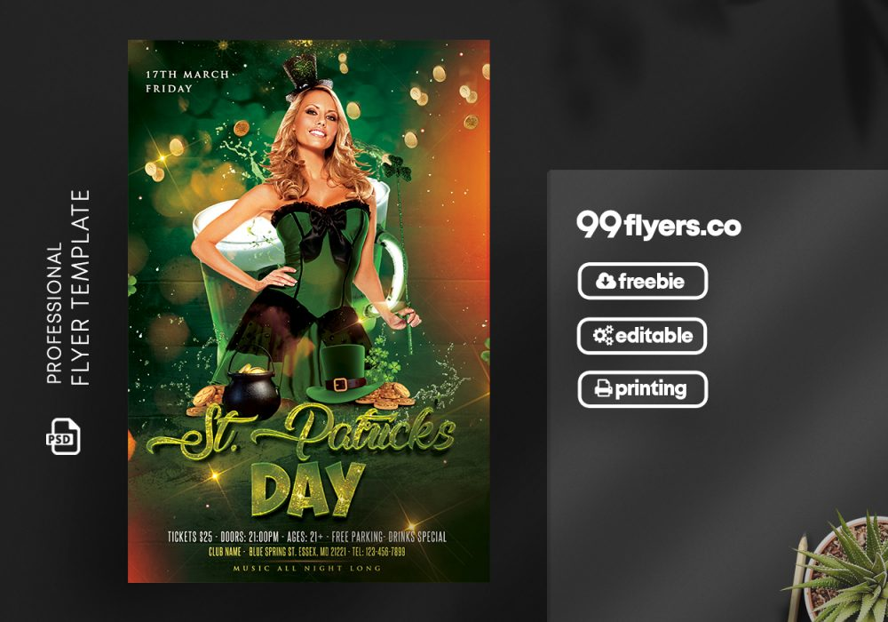 St Patricks Day – Free PSD Template