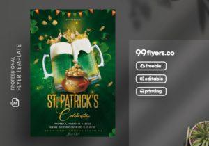 St. Patrick's Vibe Flyer Free PSD Template