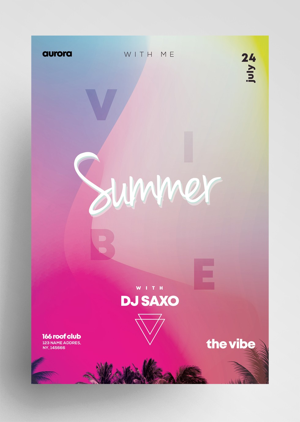 Summer Vivid Free PSD Flyer Template