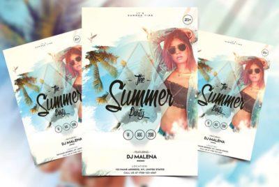 Summer Weekend PSD Free Flyer Template