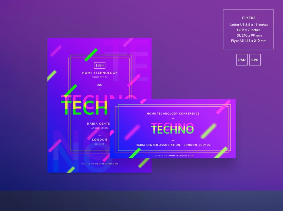 Technology Conference Free PSD Flyer Template