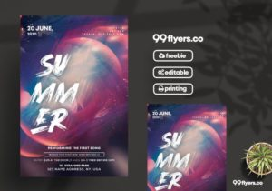 The Club Party – Free PSD Flyer Template vol2
